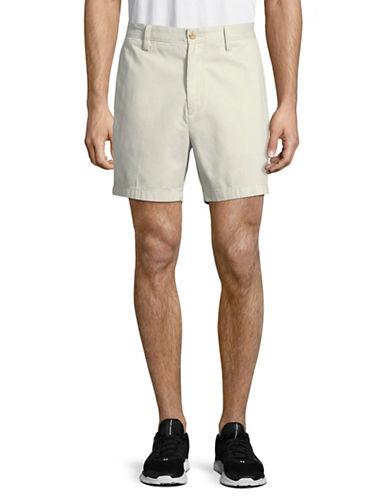 Nautica Twill Flat Front Shorts-NATURAL-40