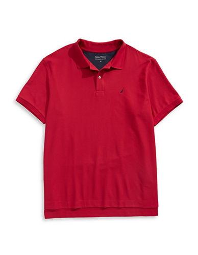 Nautica Big and Tall Pique Polo-RED-4X Big