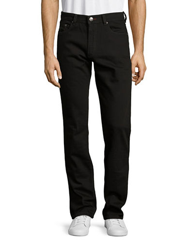 Bugatti Regular Fit Stretch Jeans-BLACK-32X34
