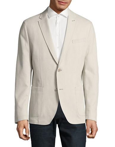 Bugatti Stretch Cotton Sports Jacket-BEIGE-44