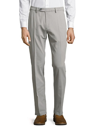 Bugatti Modern-Fit Flat Front Pants-GREY-36