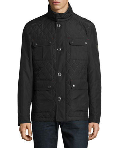 Bugatti Quilted Car Coat-BLACK-40