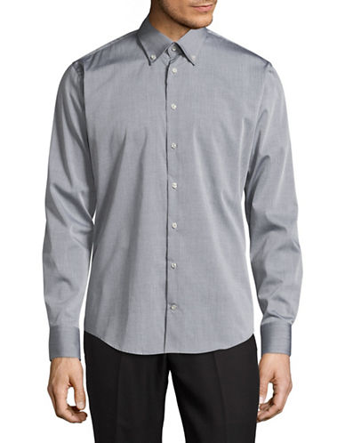 Bugatti Easy Care Modern Fit Sport Shirt-GREY-Medium