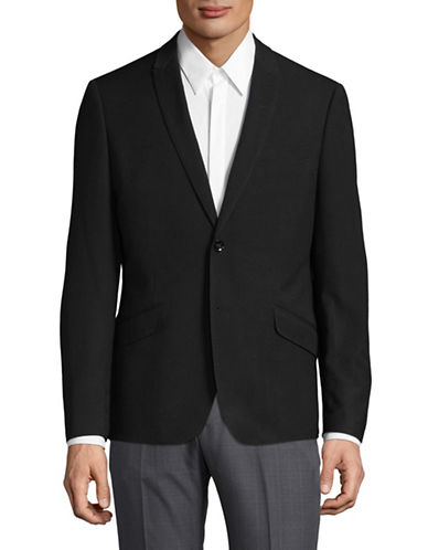 Sondergaard Striped Suit Jacket-BLACK-46 Regular