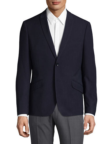 Sondergaard Striped Suit Jacket-BLUE-44 Regular