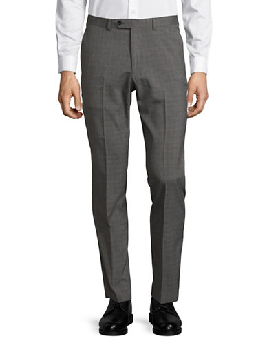Lambretta Solid Dress Pants-GREY-34X32
