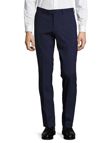 Lambretta Glen Plaid Dress Pants-BLUE-38X32