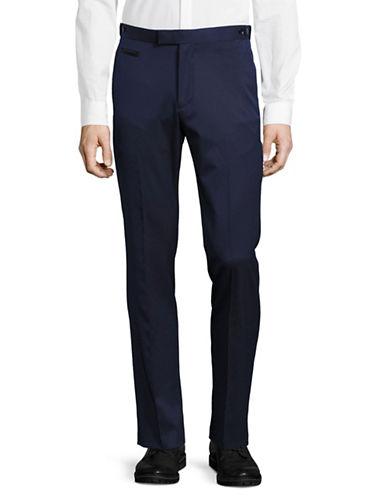 Lambretta Diamond Weave Tuxedo Pants-BLUE-36X34