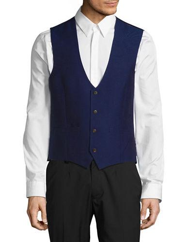 Lambretta Solid Vest-BLUE-42 Regular