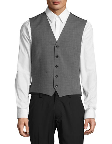 Lambretta Woven Vest-GREY-36 Regular