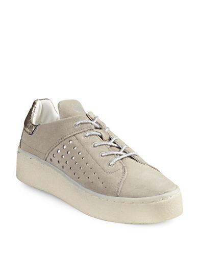 Bugatti Firini Suede Platform Sneakers-TAUPE-EUR 40/US 10