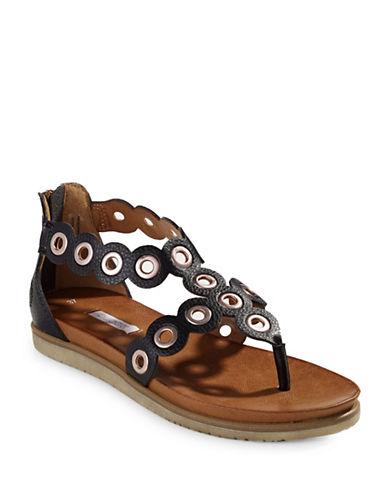 Bugatti Jodie Grommet Sandals-BLACK-EUR 40/US 10