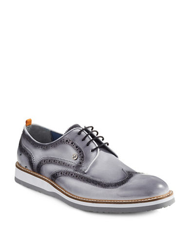 A Fish Named Fred Fancy Brogue Shoes-GREY-EU 43/US 10