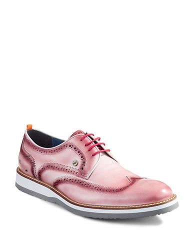 A Fish Named Fred Fancy Brogue Shoes-RED-EU 43/US 10