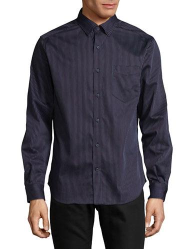Nautica Multi-Stripe Sport Shirt-MARTIME NAVY-XX-Large
