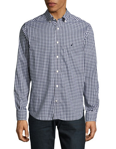 Nautica Gingham Classic-Fit Shirt-MARITIME NAVY-Large