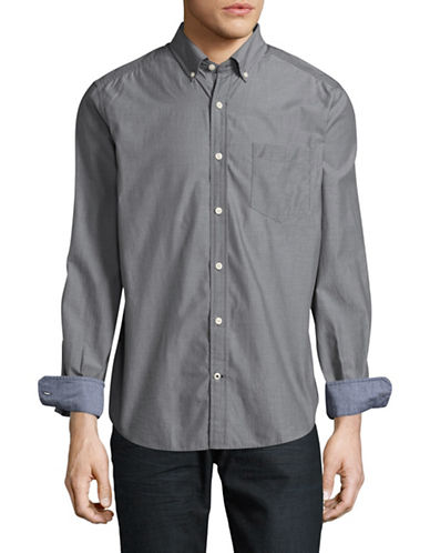Nautica Solid Sport Shirt-GREY-Medium