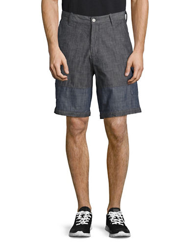 Nautica Cotton Cargo Shorts-BLUE-32