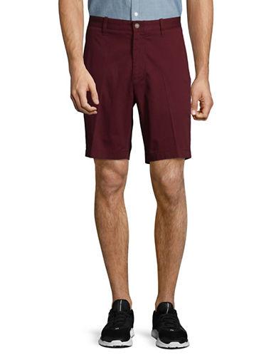 Nautica Classic Fit Twill Deck Shorts-BURGUNDY-38