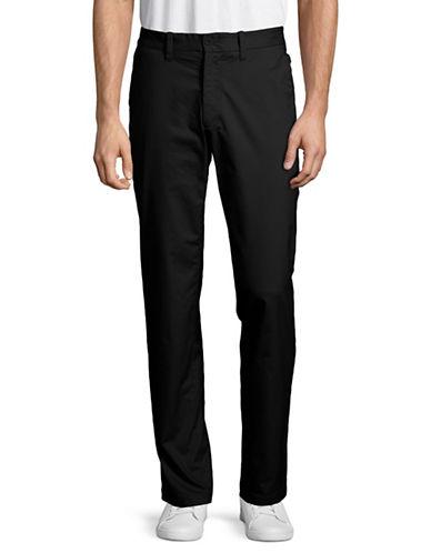 Nautica Flat-Front Twill Pants-BLACK-32X32