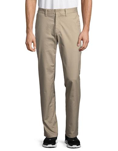 Nautica Flat-Front Twill Pants-BEIGE-36X32