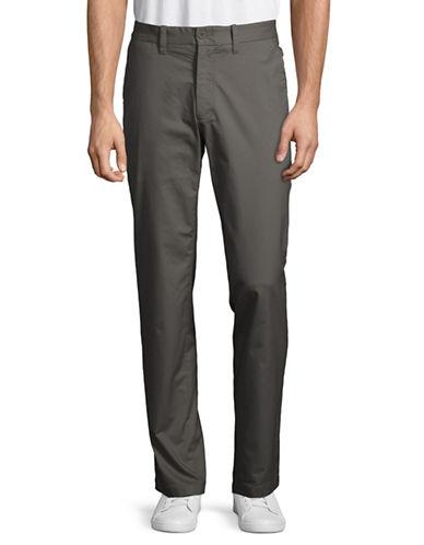 Nautica Flat-Front Twill Pants-GREY-36X32