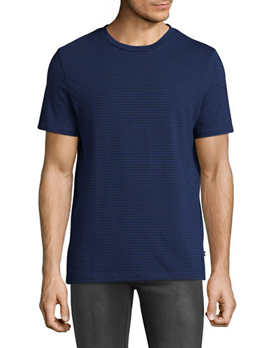 Nautica Cotton Jersey Striped T-Shirt-BLUE-Medium
