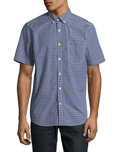 Nautica Buffalo Plaid Sport Shirt-BLUE-Large