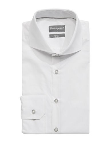 Sondergaard Fitted Dress Shirt-WHITE-16.5-34/35