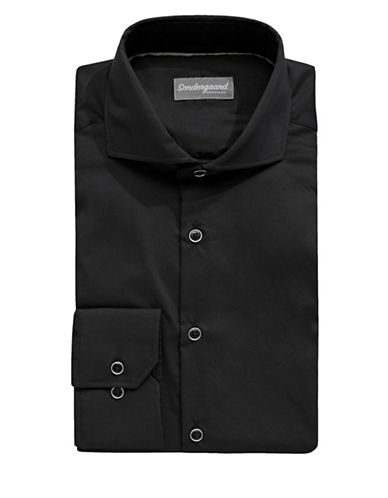 Sondergaard Fitted Dress Shirt-BLACK-14-32/33