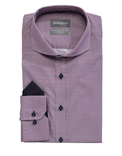 Sondergaard Fitted Dress Shirt-PURPLE-16.5-34/35
