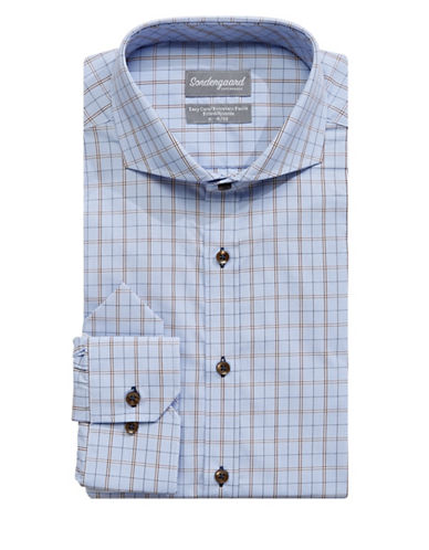 Sondergaard Fitted Dress Shirt-BLUE-17-32/33