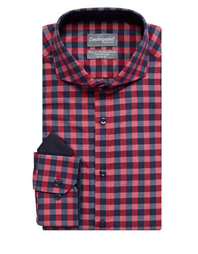 Sondergaard Fitted Dress Shirt-RED-16.5-32/33