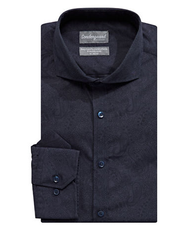 Sondergaard Fitted Dress Shirt-NAVY-16-34/35