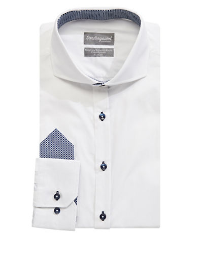 Sondergaard Printed Dress Shirt-WHITE-16.5-34/35