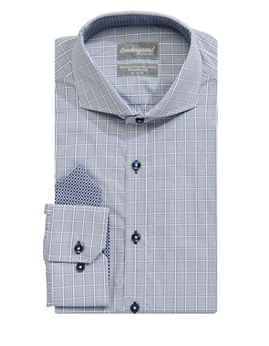 Sondergaard Printed Dress Shirt-NAVY-16-34/35