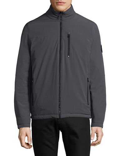 Nautica Reversible Bomber Jacket-CHARCOAL HEATHER-Medium