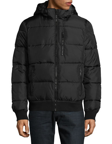 Nautica Marine Tech Puffer Jacket-BLACK-X-Large