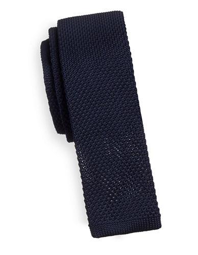 Sondergaard Slim Square-Tip Tie-NAVY-One Size