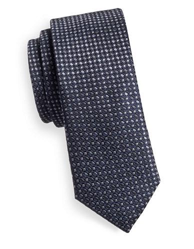 Sondergaard Multi-Dot Silk Tie-CHARCOAL-One Size