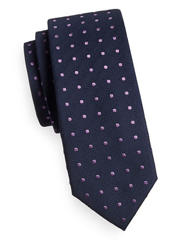 Sondergaard Dotted Silk Tie-PURPLE-One Size