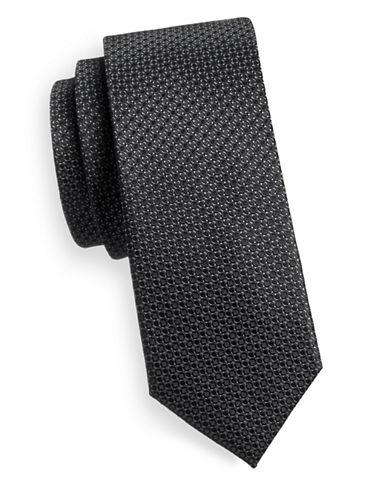 Sondergaard Dotted Silk Tie-CHARCOAL-One Size