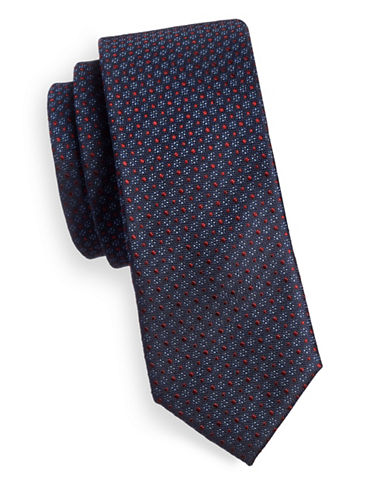 Sondergaard Multi-Dot Silk Tie-NAVY-One Size