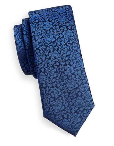 Sondergaard Floral Silk Tie-NAVY-One Size