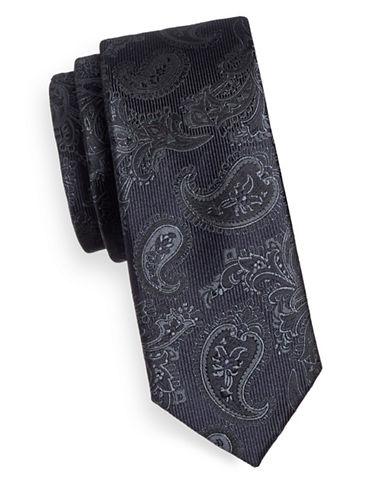Sondergaard Paisley Silk Tie-NAVY-One Size