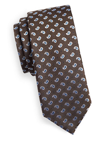 Sondergaard Paisley Neat Silk Tie-SAND-One Size