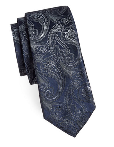 Sondergaard Paisley Silk Tie-CHARCOAL-One Size