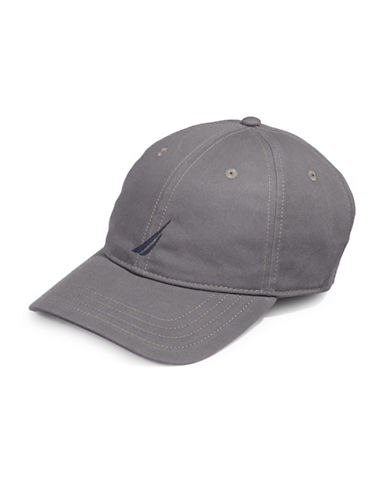 Nautica Cotton Chino Sports Cap-GREY-One Size
