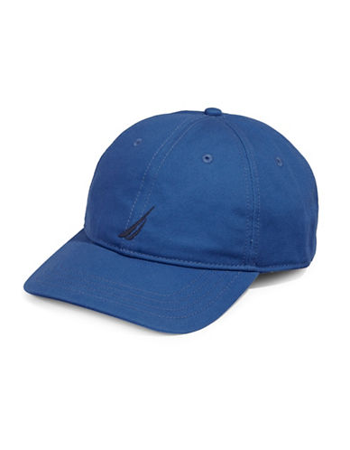 Nautica Cotton Chino Sports Cap-BLUE-One Size