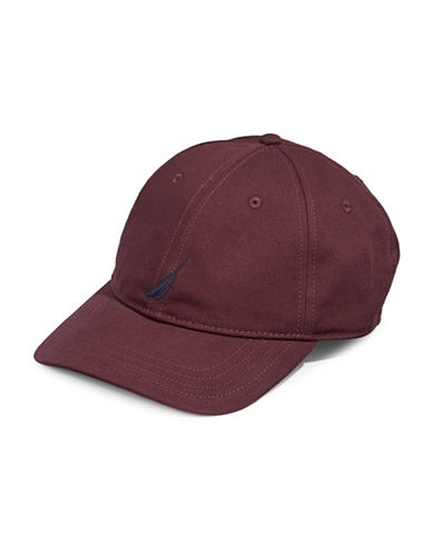 Nautica Cotton Chino Sports Cap-RED-One Size